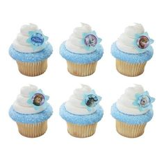 Frozen Party Cupcakes with Rings