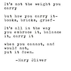 from Mary Oliver via @shopbird