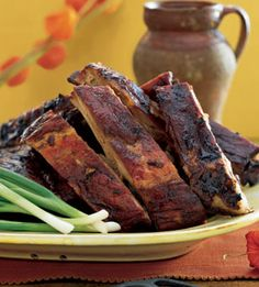 Slow-Baked Spareribs with Mango-Chutney Marinade by Clifford A. Wright in BON APPETIT