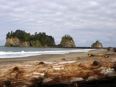 First Beach, La Push, Washington. Sigh...to think I stood right there...