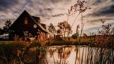 A Log Home At Buffalo Creek is 'n selfsorghuis in Swellendam in die Wes-Kaap… Weekends Away, Log Homes, South Africa, Backdrops, Cabin, Vacation, House Styles, Travel Ideas, Buffalo