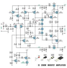 high power 2200w amplifier circuit transistor amplifier audio rh pinterest com NPN Transistor Amplifier Circuit Single Transistor Amplifier