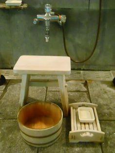 Japan's Wooden Bath Tools at Izu Onsen Hot Spring|伊豆長岡温泉