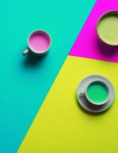 color | pink + green palette