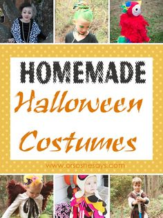 Homemade Halloween Costumes - so cute and some great ideas too! Easy and advanced options too.