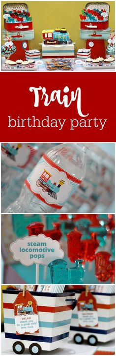 Train birthday party by BluGrass Designs featured on The Party Teacher | http://thepartyteacher.com/2013/02/13/guest-party-choo-choo-train-4th-birthday-party/