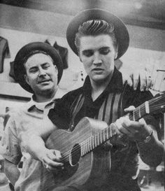 With Dewey Phillips at Lansky's Memphis , Tennessee , 1956
