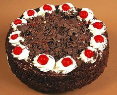 how to make eggless black forest cake recipe eithout oven at home in Telugu vantalu on the eve of christmas and new year occasion Cake Recipes Without Oven, German Baking, Black Forest Cake, Cake Truffles, Cupcakes, Gift Cake, Chocolate Shavings, Chocolate Recipes, Gourmet