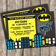 Hey, I found this really awesome Etsy listing at https://www.etsy.com/listing/175039523/retro-batman-birthday-invitation-batman