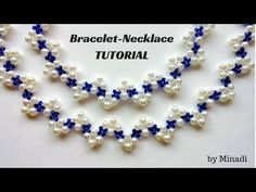 Beginners jewelry tutorial. How to make an elegant jewelry set: necklace, earrings, bracelet - YouTube