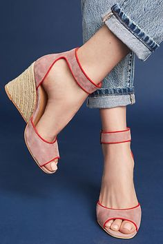 Very UNIQUE and love the contrast and most definately the name - need to be in the Seychelles wearing these!! Seychelles Villa Wedges