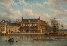 Eduard Hilverdink, De Amstel bij de uitspanning Lokhorst, 1885 — Hart Amsterdammuseum