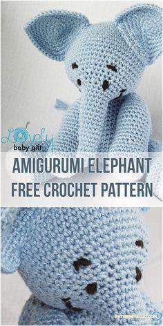 Amigurumi Elephant [Free Crochet Pattern] #crochet #amigurumi #amigurumitoy #elephants