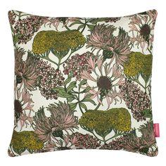 Hello Yarrow Cushion (Natural)   Abigail Borg   Surface Pattern Designer & Floral Illustrator  