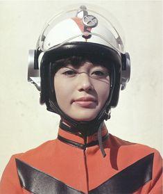 MAT's Yuriko Oka (Mika Katsuragi), from Ultraman Jack Cyberpunk, Jessika Pava, Character Inspiration, Character Design, Space Girl, Retro Futuristic, Futuristic Motorcycle, Special Effects, Looks Cool