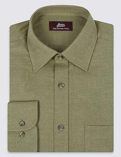 Pure Cotton Twill Shirt | M&S