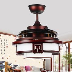 2016 New New Arrival Decorative Ceiling Fans Lighting Wooden ...