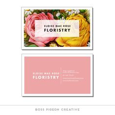 Premade Business Card Elegant Feminine by BossPigeonCreative
