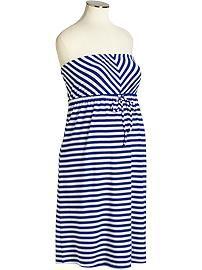 Maternity Striped Jersey Tube Dresses