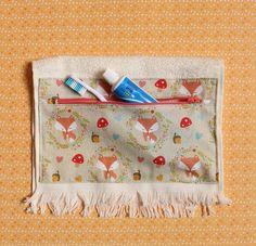 Toalha porta-escova de dentes - estojo