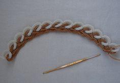 How to make an interlocking double chain crochet braid
