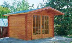 Ein Gartenhaus in Blockbohlen-Bauweise kann man als Bausatz kaufen – und deshalb…