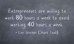 """ Entrepeneurs are willing to work 80 hours to avoid ... "" #DigitalE45DK"