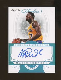 d33c229834f 2017-18 Flawless Platinum Momentous Magic Johnson Lakers HOF AUTO 1/1