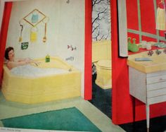 Yellow Red Green Black bathroom | Flickr - Photo Sharing!