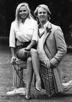 August Pamela Stephenson and Peter Davison, who plays Doctor Who, at the BBC Television Centre. Fifth Doctor, Doctor Who Tv, Eleventh Doctor, Doctor Who Assistants, Pamela Stephenson, Peter Davison, Doctor Who Companions, Classic Doctor Who, Playing Doctor