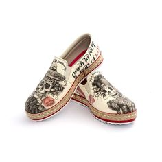 Look what I found on Goby Beige Sugar Skull Slip-On Espadrille by Goby Slip On Espadrilles, Slip On Sneakers, Slip On Shoes, Vegan Sneakers, Espadrille Shoes, Cute Shoes, Me Too Shoes, Funky Shoes, Skull Shoes