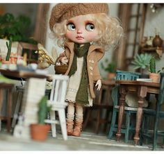 Miss yo 2016 Summer & Autumn - Autumn Coat for Blythe doll - dress / outfit - Brown
