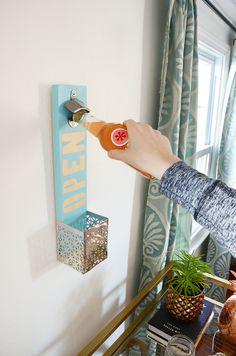 How-To: Easy Wall Mounted Bottle Opener