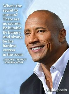 Dwayne Johnson was the rock of the box office in if Forbes' new list of thehighest-grossing actors is any indication. Dwayne Johnson Quotes, The Rock Dwayne Johnson, Dwayne The Rock, Rock Johnson, Quotes By Famous People, Quotes To Live By, Me Quotes, Motivational Quotes, Inspirational Quotes