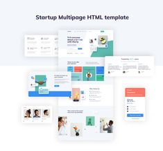 Starty - IT Startup Company Website Template Portfolio Booklet, Browser Support, Html Templates, Building A Website, Describe Yourself, Clean Design, Website Template, Web Development, Online Business