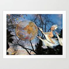 Flight Home Art Print by CrismanArt - X-Small Home Art, Cartoon, Art Prints, Artist, Artwork, Painting, Photos, Products, Art Impressions