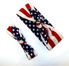 American Flag Mommy and Me Matching Rockabilly Headscarf Pinup Women Baby Headband Hair Accessory by Lorettajos on Etsy https://www.etsy.com/listing/200275834/american-flag-mommy-and-me-matching