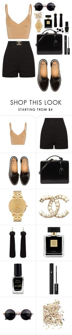 """Без названия #145"" by kristinamcqklim ❤ liked on Polyvore featuring Dion Lee, Mark Cross, Nixon, Avon, Barry M, Lancôme and Topshop"