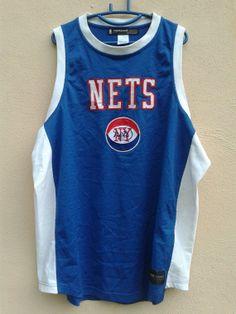 c374e0f5a82 Vintage New York Nets NBA Basketball Hardwood by sixstringent