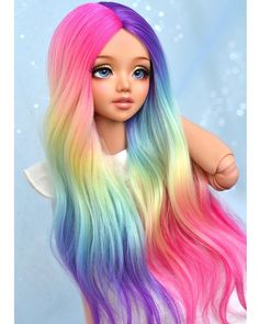 ✔ Cute Paintings For Girls Sweets Realistic Face Drawing, Realistic Dolls, Ooak Dolls, Barbie Dolls, Dibujos Tumblr A Color, My Little Pony Twilight, Enchanted Doll, Kawaii Doll, Cute Paintings