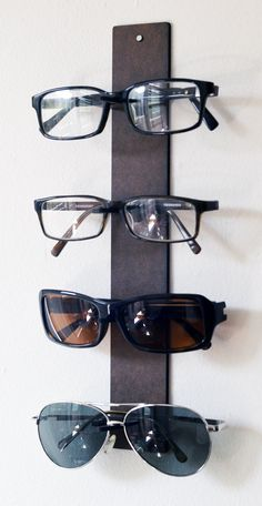 for ANYONE with LOTS OF GLASSES: specs shelf eyewear display from Okulo $15