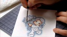 I'm a designer for Magnolia Stamps Sweden.. That's how I colour with Distress Inks.. In this video I'm showing you just how I colour the background.. If you'...
