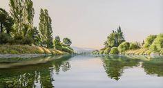 'Stillness - Takaka River' - from my favourite NZ landscape artist.