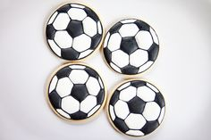 Baked Happy - Soccer Ball Cookies