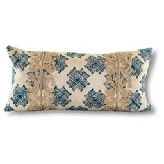 Check out this item at One Kings Lane! Bali 15x30 Linen Pillow, Turquoise