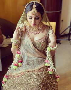 Looking for Bridal Lehenga for your wedding ? Dulhaniyaa curated the list of Best Bridal Wear Store with variety of Bridal Lehenga with their prices Indian Bridal Makeup, Indian Bridal Outfits, Indian Bridal Fashion, Indian Bridal Wear, Indian Dresses, Bridal Dresses, Bride Indian, Bridal Looks, Bridal Style