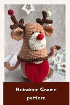Crochet Doll Pattern, Crochet Toys Patterns, Amigurumi Patterns, Stuffed Toys Patterns, Crochet Christmas Trees, Christmas Crochet Patterns, Diy Christmas Gifts, Crochet Deer, Crochet Daisy