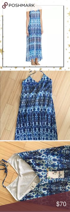 "Show me your Mumu Blue Maxi Dress (GT21H31B) Erlyn maxi dress.Total length 34"", bust across 16,5"", waist across 15"". Offers very welcome. No trade Show Me Your MuMu Dresses Maxi"