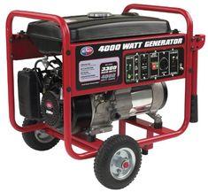 All Power America APGG4000, 3300 Running Watts/4000 Starting Watts, Gas Powered Portable Generator > 4000-watt gas powered portable generator Runs 8 hours at 1/2 load 208cc OHV air-cooled engine