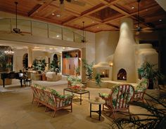 Luxury patio living, with kiva fireplace...